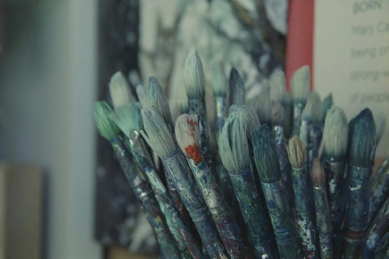 acrylic paint brush cleaning