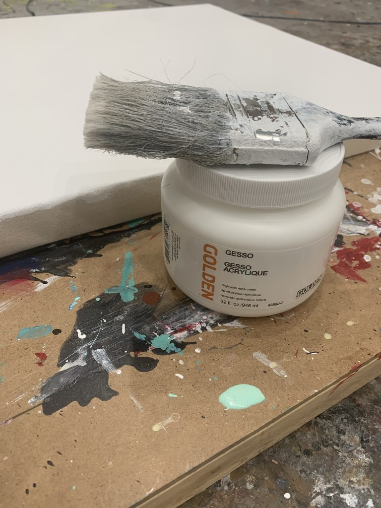 acrylic gesso painting
