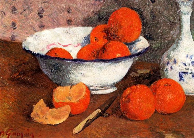 Still life with oranges gaughin